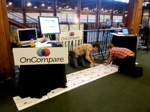 OnCompare LAUNCH Conference booth